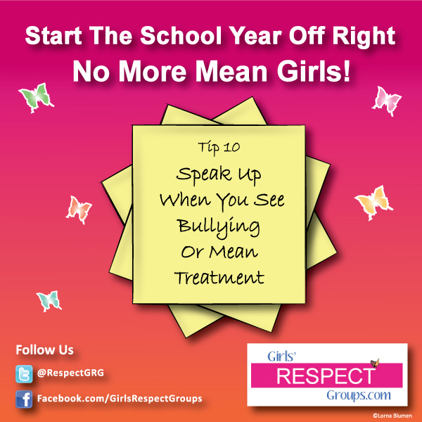 No More Mean Girls Tip #10