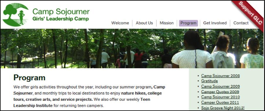 Camp Sojourner 1